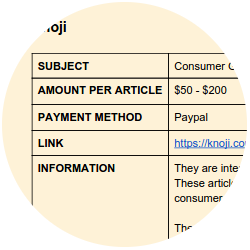 get paid to write online web directory sample
