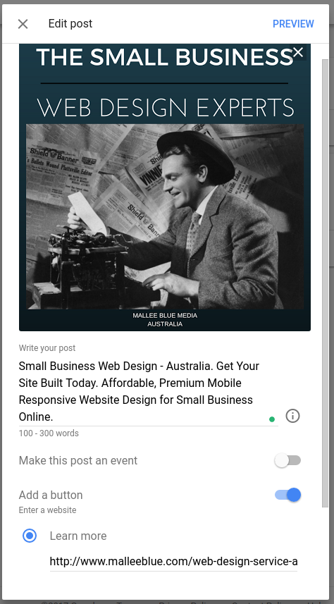 How to create and edit a Google Post
